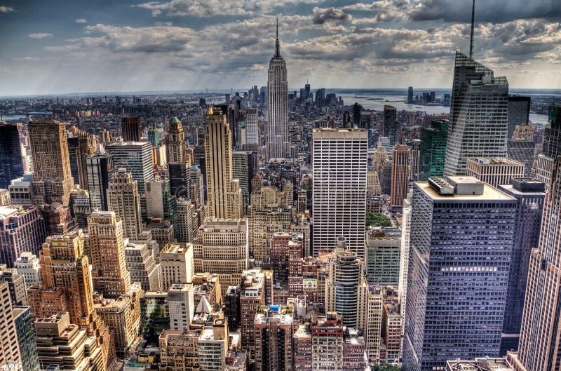 在纽约的一张鸟瞰图 免版税库存照片