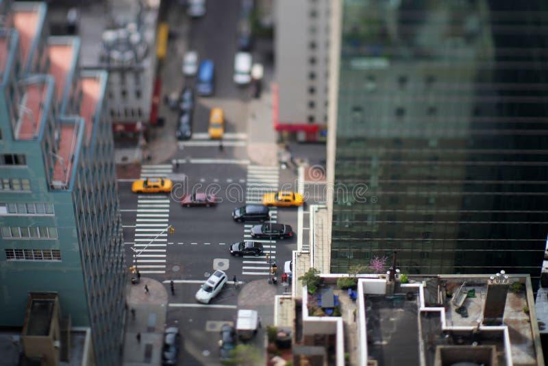 曼哈顿街道视图 免版税库存照片