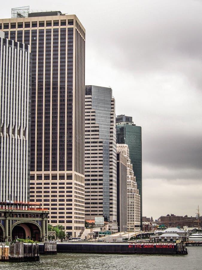曼哈顿都市风景  库存照片