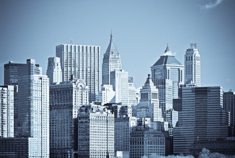曼哈顿,纽约全景  库存照片