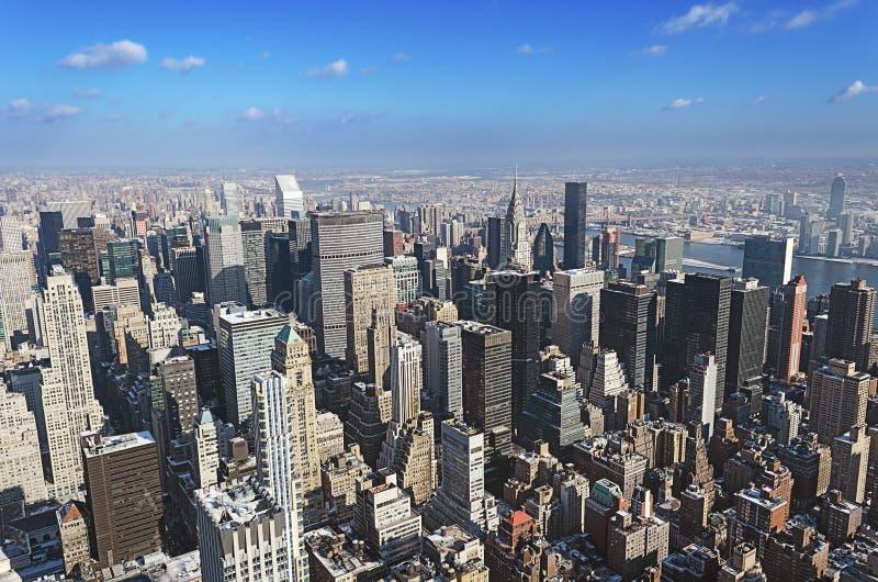 曼哈顿从上面 库存照片