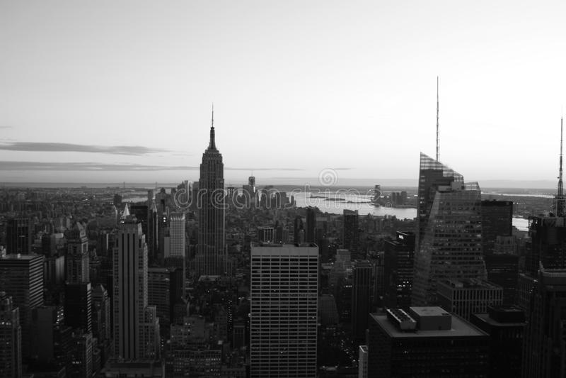 曼哈顿B&W 库存照片