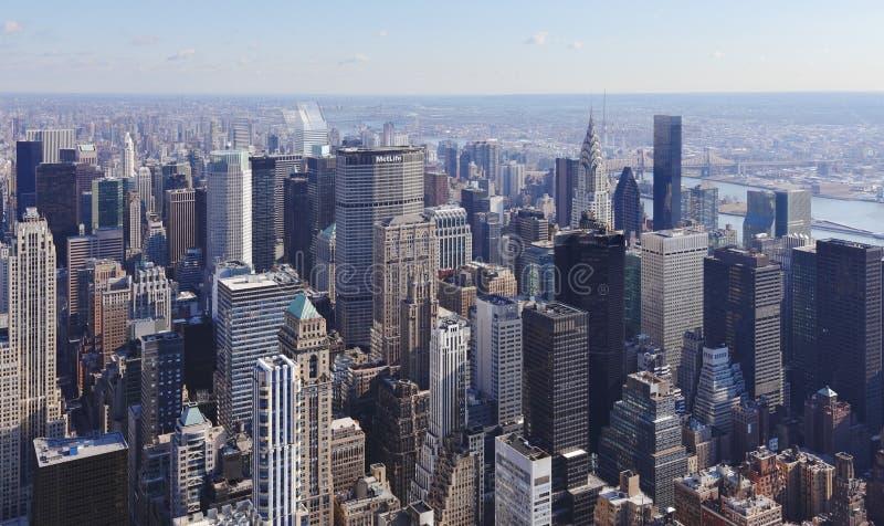 曼哈顿nyc地平线 免版税库存照片