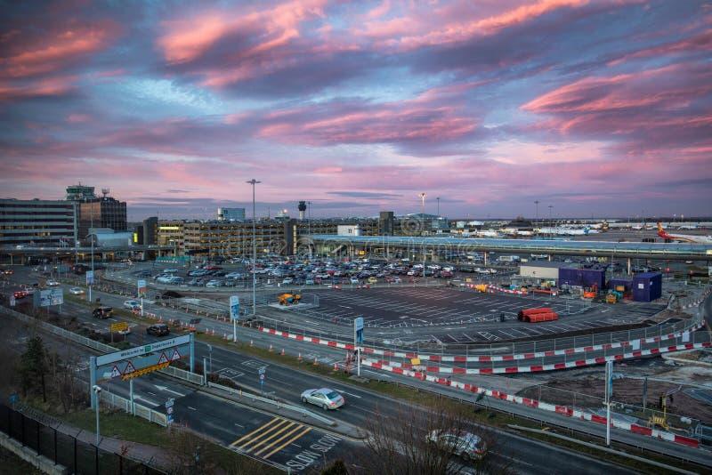 曼彻斯特国际机场 免版税库存照片