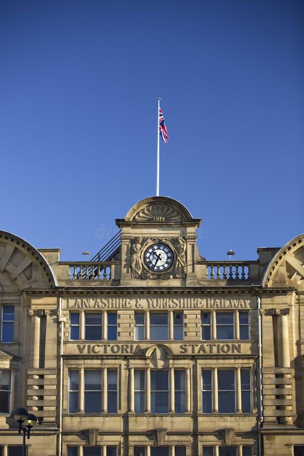 曼彻斯特,大曼彻斯特郡,英国,火车站10月2013年,曼彻斯特维多利亚 库存图片