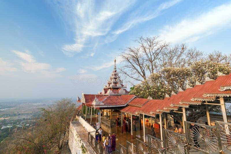 曼德勒小山在曼德勒,缅甸 库存照片