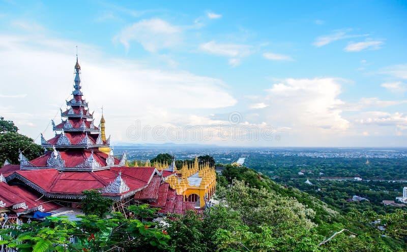 从曼德勒小山的看法,曼德勒,缅甸3 免版税库存图片