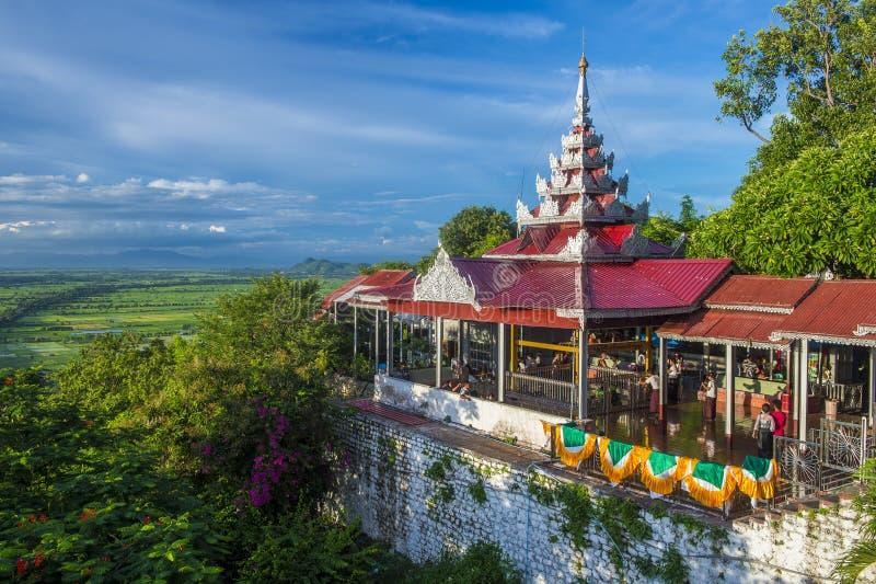 曼德勒小山缅甸 免版税库存图片