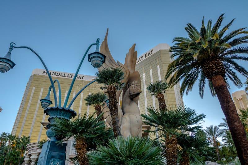 曼德勒海湾旅馆和赌博娱乐场入口-拉斯维加斯,内华达,美国 库存照片