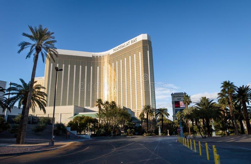 曼德勒海湾旅馆和赌博娱乐场-拉斯维加斯,内华达,美国 图库摄影