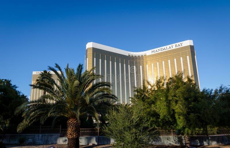 曼德勒海湾旅馆和赌博娱乐场-拉斯维加斯,内华达,美国 库存照片