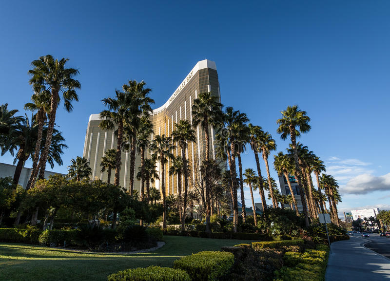 曼德勒海湾旅馆和赌博娱乐场-拉斯维加斯,内华达,美国 免版税库存图片