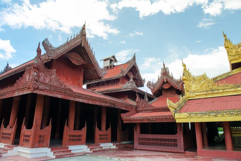 曼德勒Palace.Myanmar 库存图片