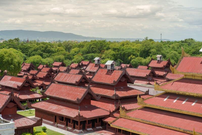 曼德勒Palace.Myanmar 免版税库存照片