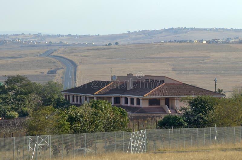 曼德拉议院在Qunu 库存图片
