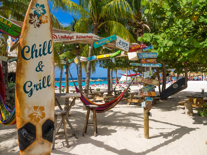 曼波音乐海滩酒吧 库存照片