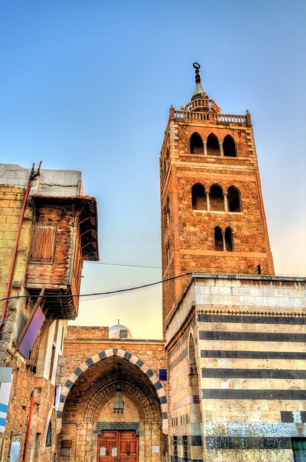 曼苏里清真大寺在的黎波里,黎巴嫩 免版税库存图片