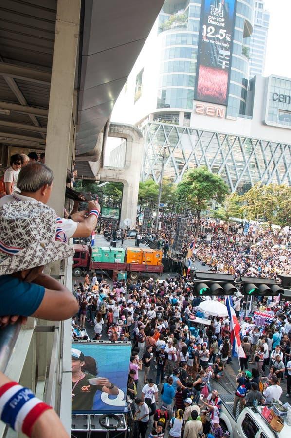曼谷停工2014年 图库摄影