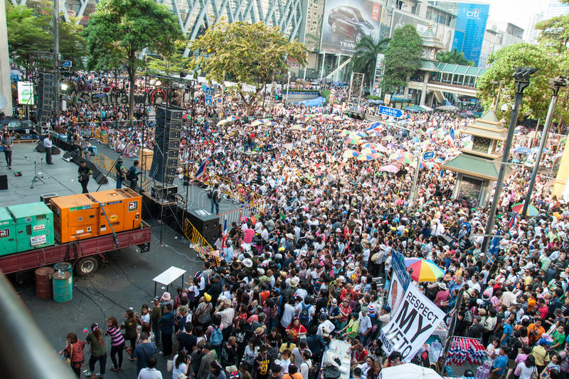 曼谷停工2014年 免版税库存图片
