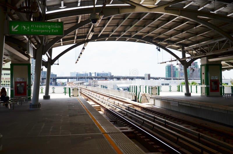 曼谷在泰国的BTS Skytrain 免版税图库摄影