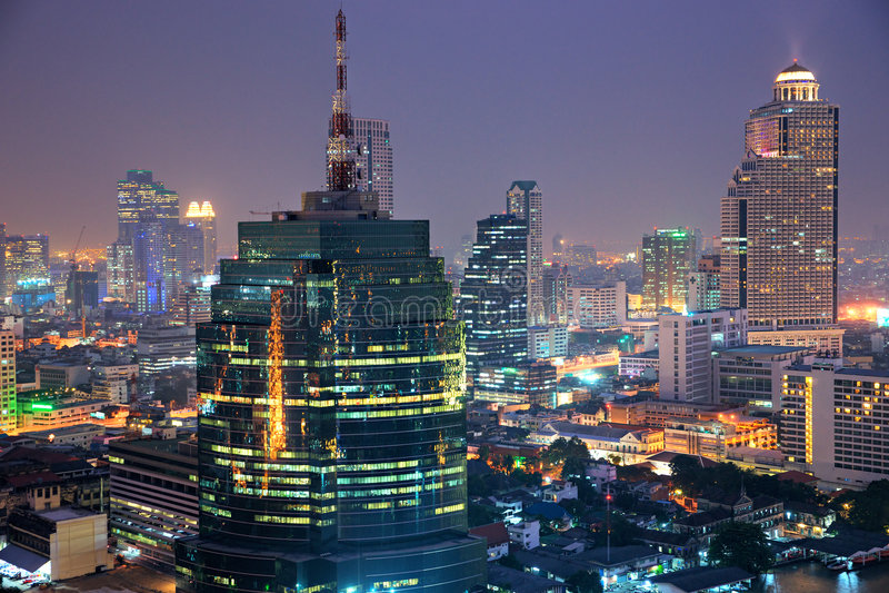 曼谷地平线泰国 免版税图库摄影