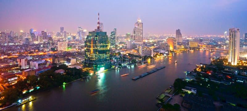 曼谷地平线,泰国。 库存图片