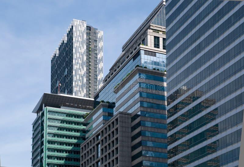 曼谷大厦高级职务上升 库存图片
