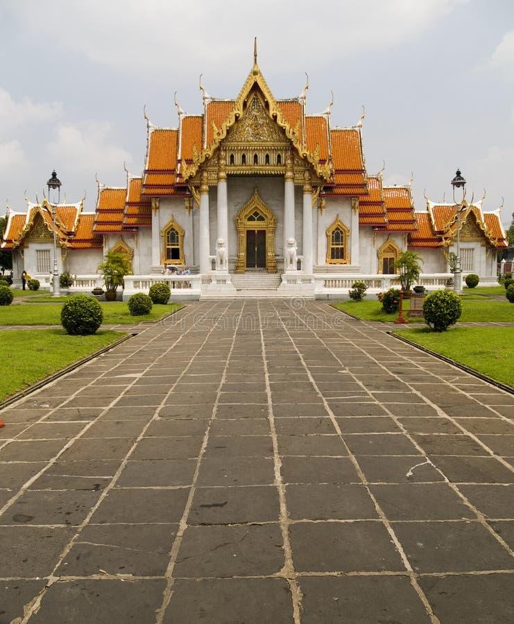 曼谷大理石寺庙泰国 免版税库存照片