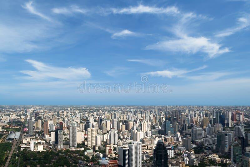 曼谷市地平线 库存照片