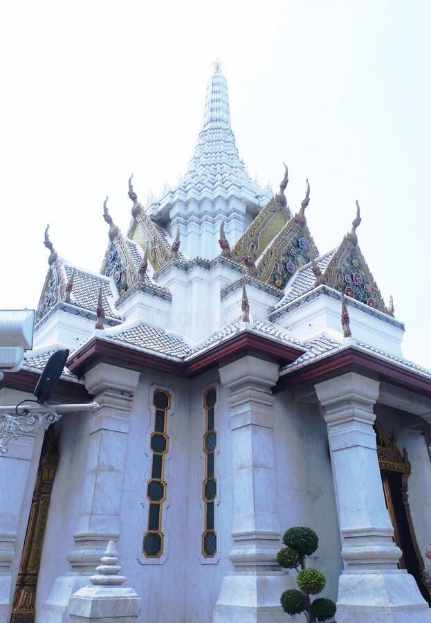 曼谷市柱子寺庙在曼谷,泰国 免版税库存图片