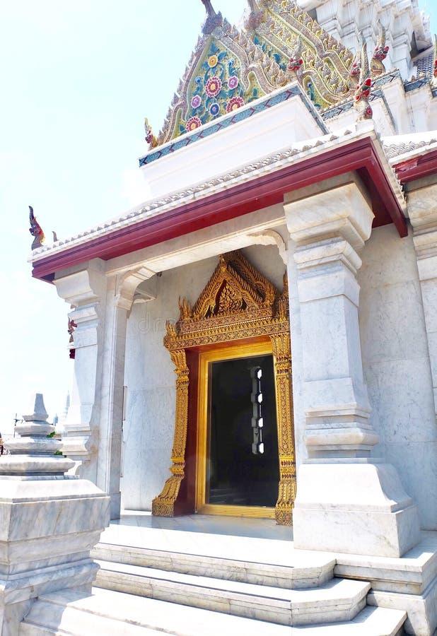 曼谷市柱子寺庙在曼谷,泰国 图库摄影