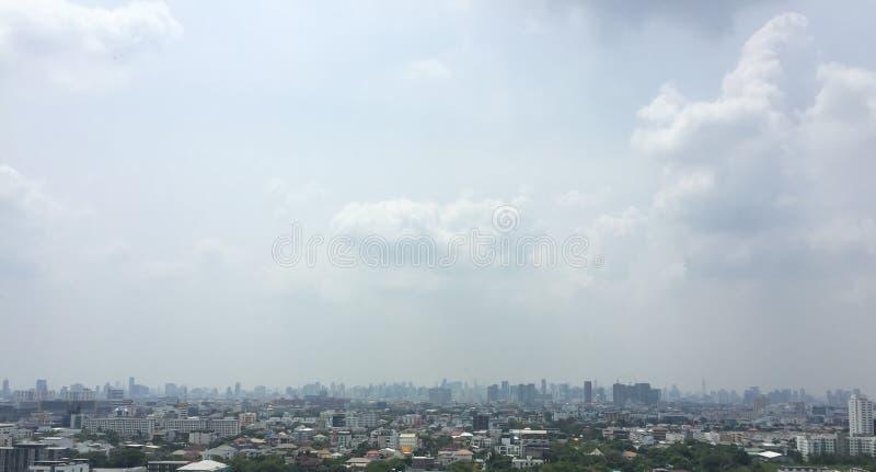 曼谷市背景 免版税库存照片