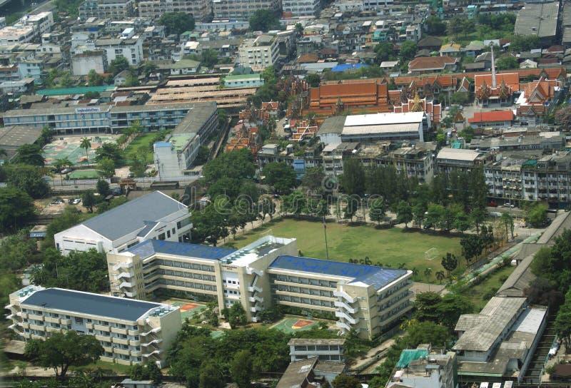 曼谷市,泰国,亚洲鸟瞰图  免版税库存图片