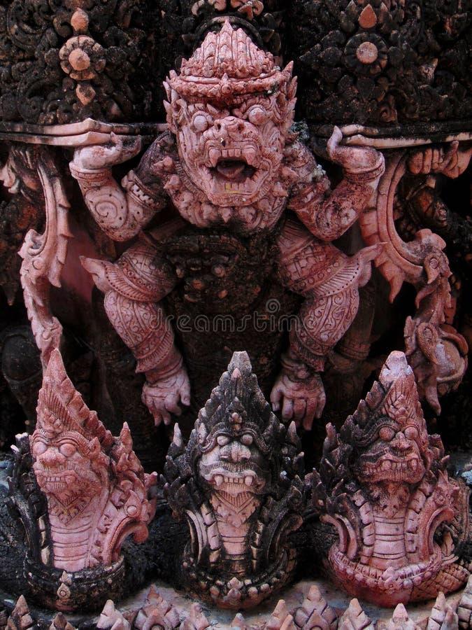 曼谷恶魔雕像 免版税库存照片