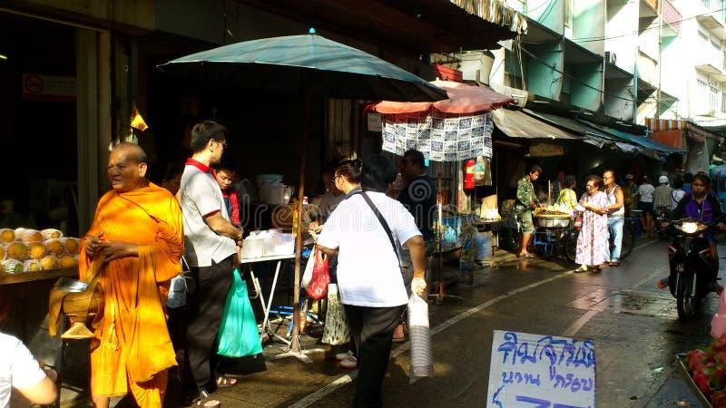 曼谷早晨市场 免版税图库摄影