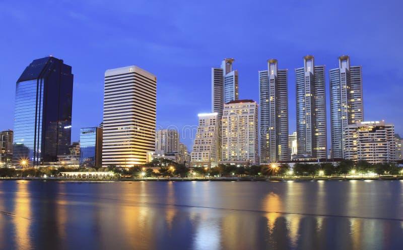 曼谷晚上场面 库存照片