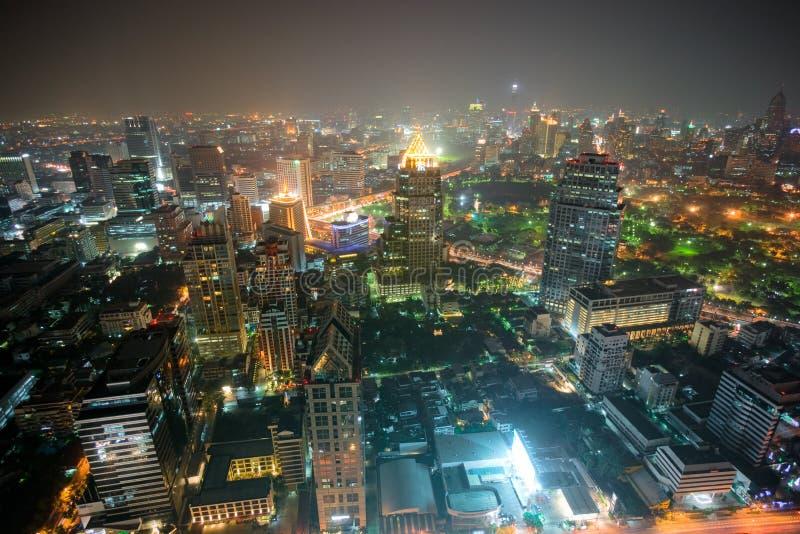 曼谷晚上泰国视图 库存图片