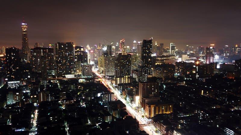 曼谷晚上 免版税图库摄影
