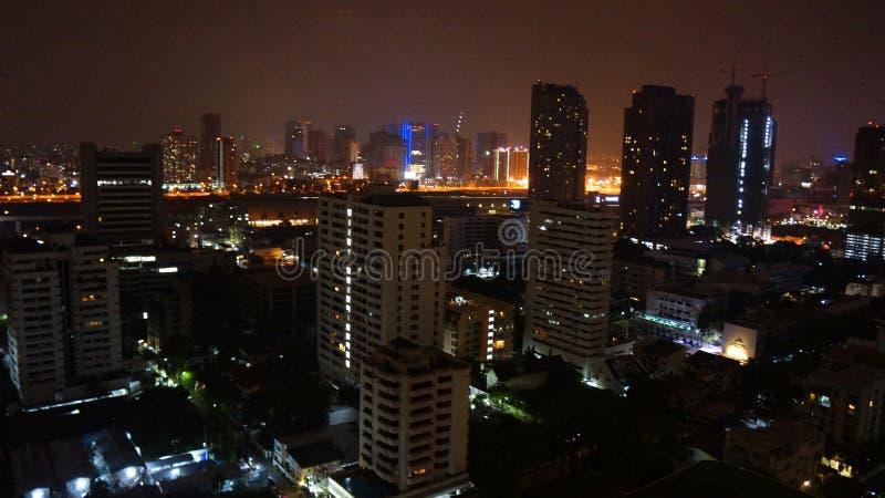 曼谷晚上 库存照片