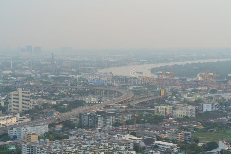 曼谷有空气污染的 免版税库存图片