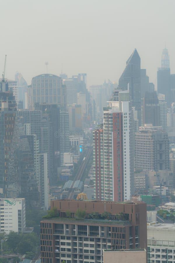 曼谷有空气污染的 免版税库存照片
