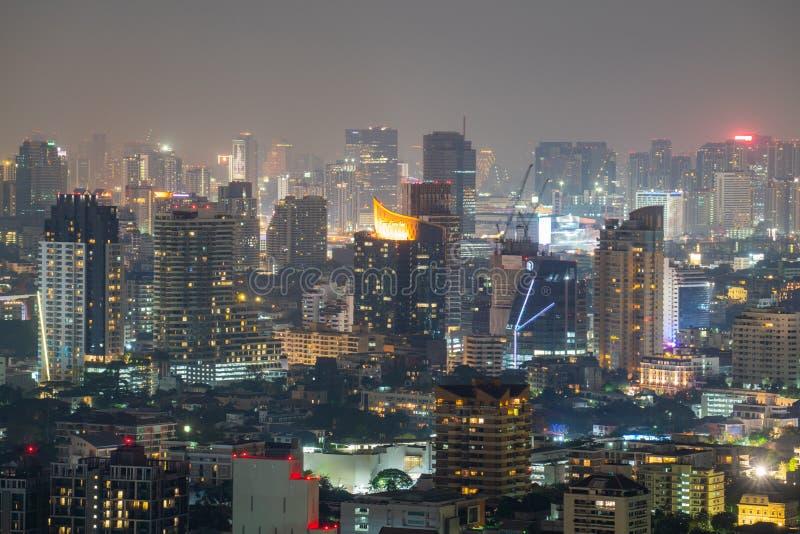 曼谷有空气污染的 库存图片