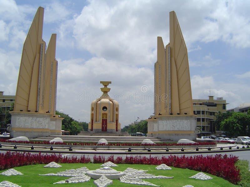 曼谷民主纪念碑 免版税库存照片