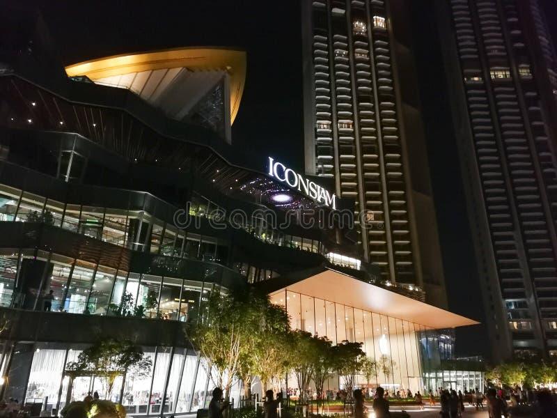 曼谷泰国,2018年11月22日,Iconsiam是一新的lujxury ma 免版税图库摄影