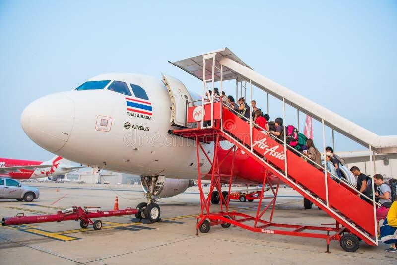 曼谷泰国5月12日: :前面为旅行离开到越南 库存图片