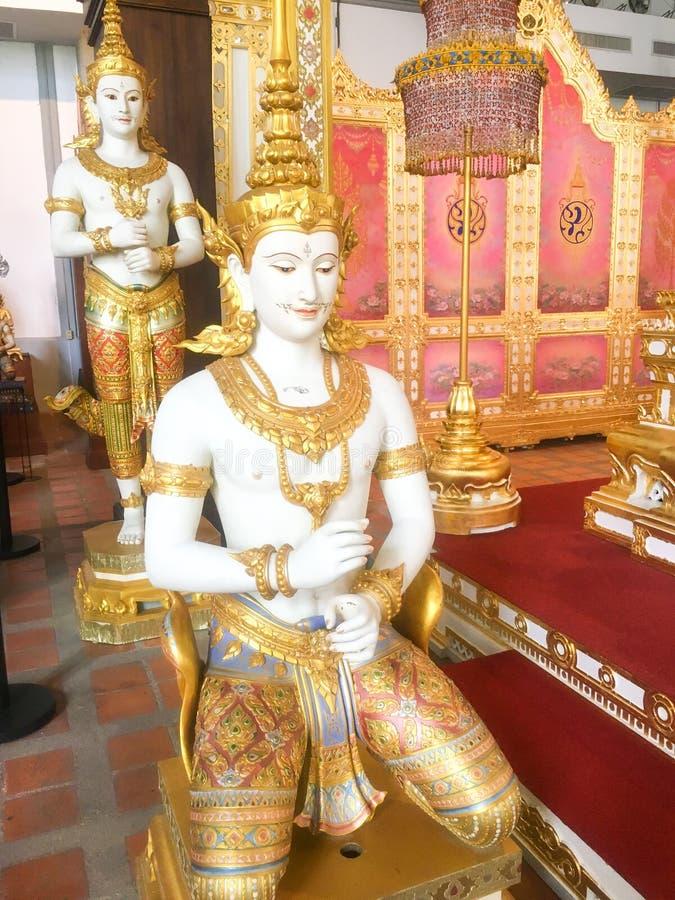 曼谷泰国8月12,2018泰国天使,泰国艺术样式天使 免版税库存照片