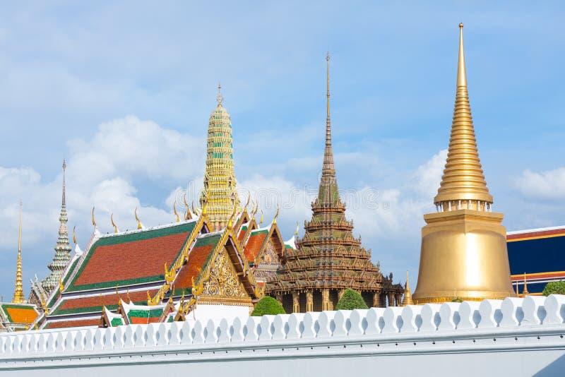 曼谷玉佛寺的塔。 图库摄影