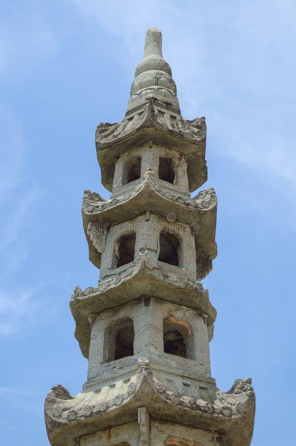 曼谷玉佛寺的曼谷泰国古老塔 库存图片