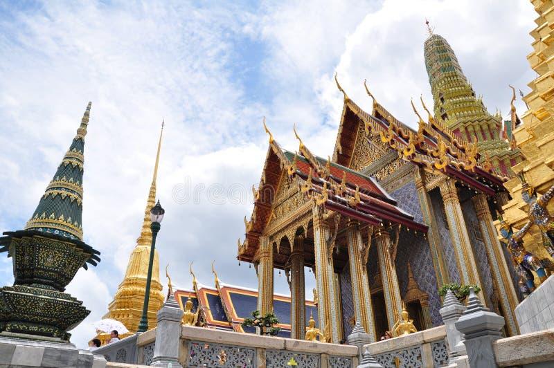 曼谷玉佛寺,鲜绿色菩萨的寺庙,曼谷,泰国 免版税图库摄影