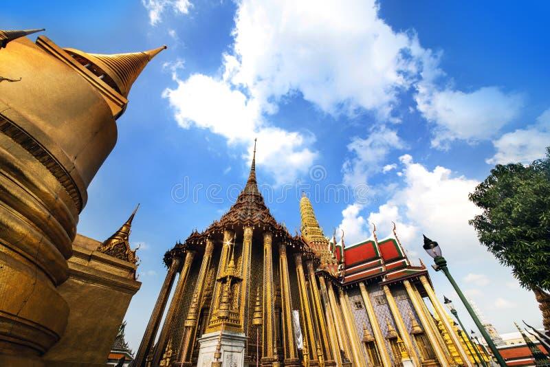 曼谷玉佛寺(鲜绿色菩萨寺庙),曼谷,泰国。泰国的地标。 图库摄影
